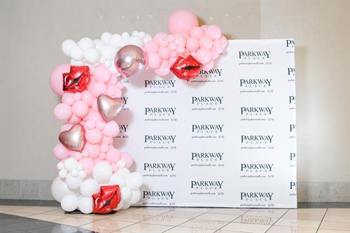 """Organic Demi Arch for the Parkway Place Mall """"Galenine's"""" Day event."""