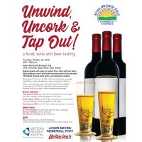 NEW DATE: Unwind, Uncork and Tap Out - A Beer, Food, and Wine Tasting