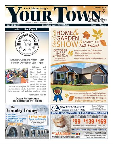 With 7 unique local editions, Your Town Monthly® is the premier direct mail magazine from the East San Francisco Bay Area to the West Sacramento Valley. Over 3.2 million distributed to mailboxes in the Tri-Valley, Diablo Valley, Solano County and surrounding areas every year.