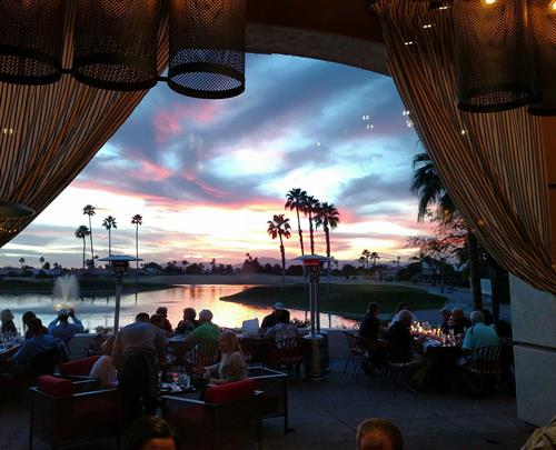 Sunset view from Stone & Barrel
