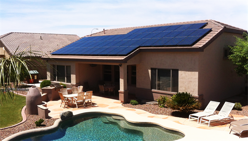 Chandler, Arizona solar project by Sun Valley Solar Solutions