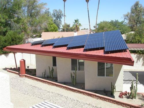 Custom rooftop solar project by Sun Valley Solar Solutions