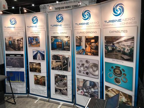 TurbineAero PowerGen trade show booth