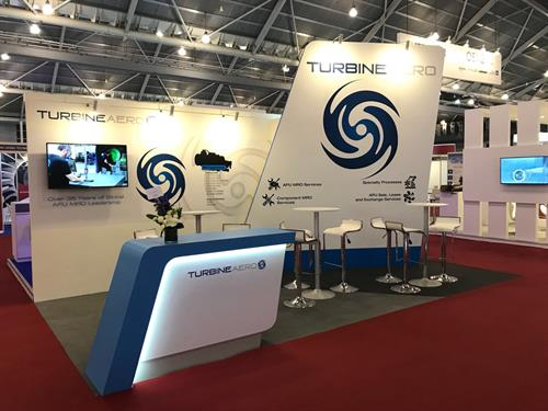 TurbineAero trade show booth