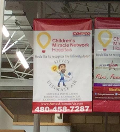 Costco banner to support Phoenix Children's Hospital
