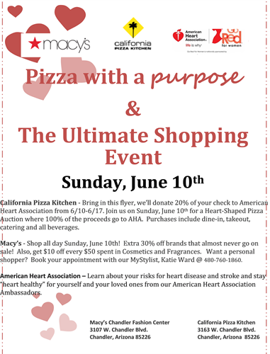 Pizza with a Purpose & The Ultimate Shopping Event