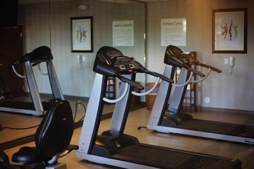 Exercise room machines