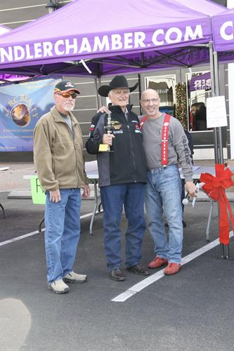 Tex Esrrnhardt presenting a trophy at my 6th Annual Kustom Karz for K9z and Katz Kar Show (Dec/2018).  All proceeeds benefit Lost Our Home Pet Rescue.