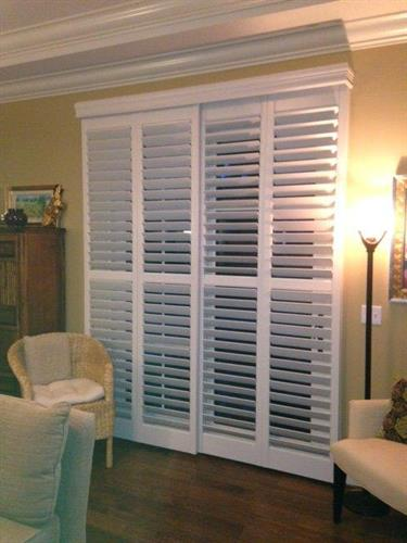 Sliding Shutters make a great door!