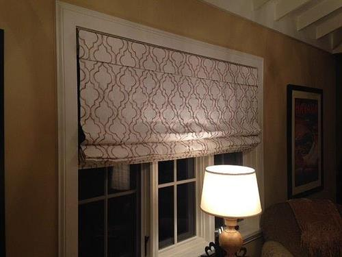 Roman shades make a big difference.