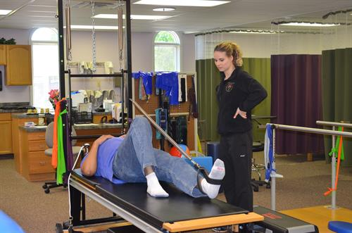 Pilates with the use of a reformer