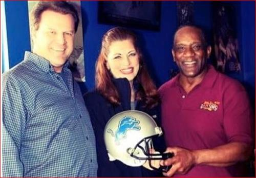 Detroit LIONS NFL Player Billy Sims and Miami Dophins NFL QB Bryan Clark