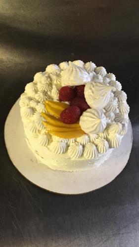 Fresh Fruits & White Chocolate Ganache