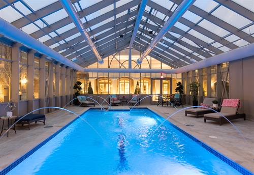 Blossom Ridge Indoor Pool & Spa in Residences Building
