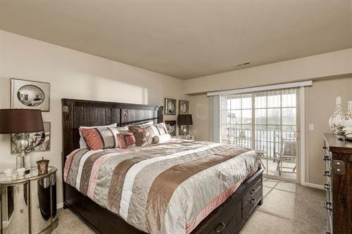 Blossom Creek Master Bedroom with Patio