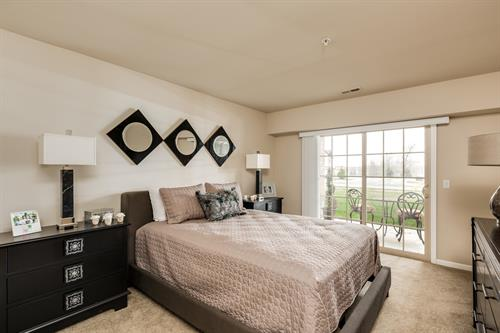 Parkways of Auburn Hills Master Bedroom with Patio Access