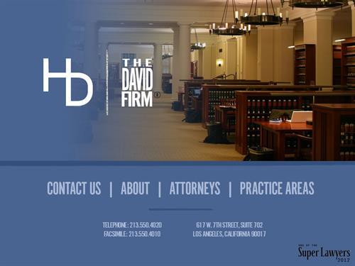 Client: The David Firm, LA
