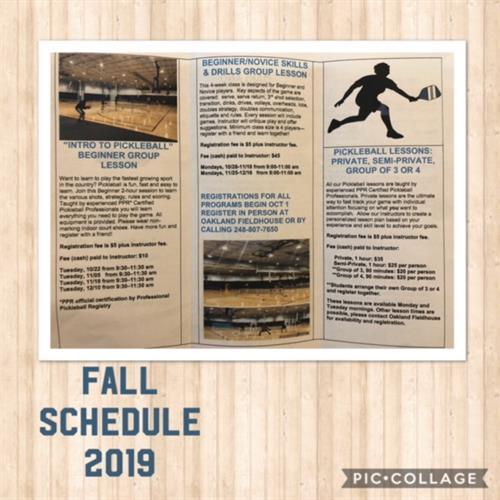 Pickleball Schedule
