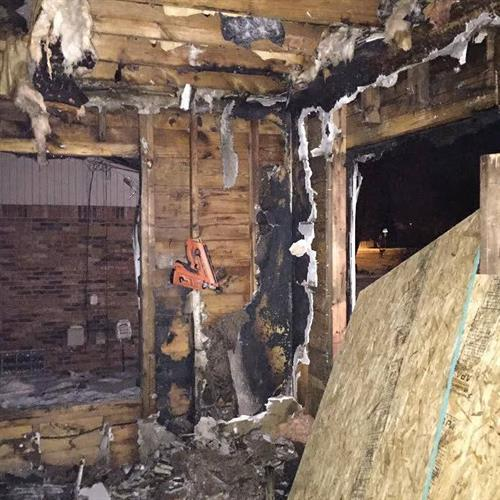 Our Professionals are specialized in fire restoration training needed to restore your home to pre-fire condition.