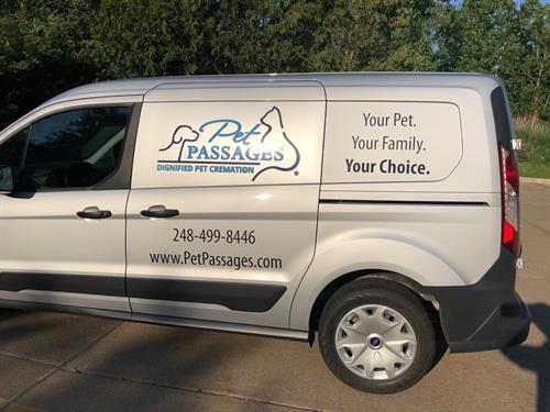 Pet Passages transport vehicle