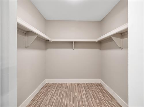 Spacious Walk In Closets In Select Units
