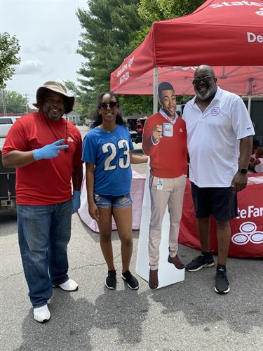 """Hanging out with """"Jake From State Farm"""" at the Juneteenth Celebration in Franklin (Nashville), TN"""