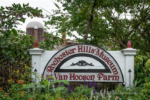 Rochester Hills Museum at Van Hoosen Farm - welcome sign