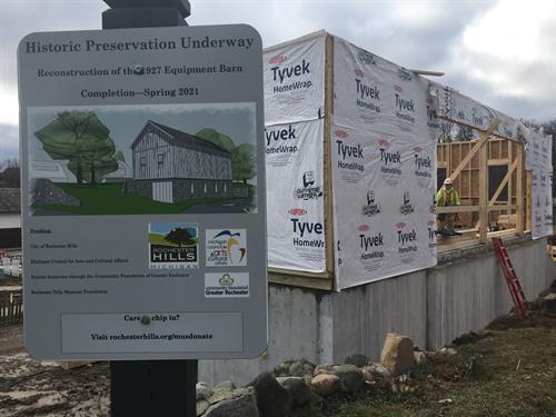 Rochester Hills Museum at Van Hoosen Farm - Equipment Barn Rebuild 2021