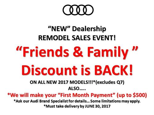 FRIENDS & FAMILY DISCOUNT IS BACK!