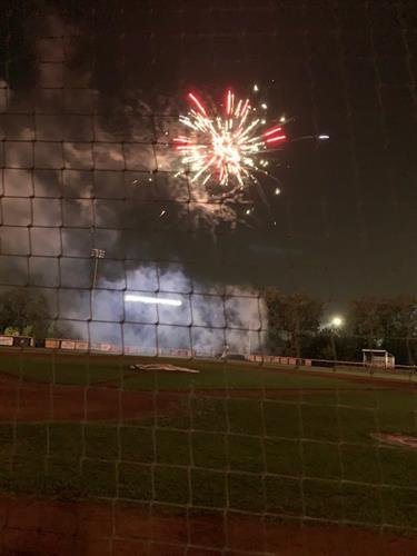 Fireworks at JJ Field August 27, 2021