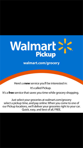 Online Pick Up is now included Groceries! Customers Walmart.com/grocery