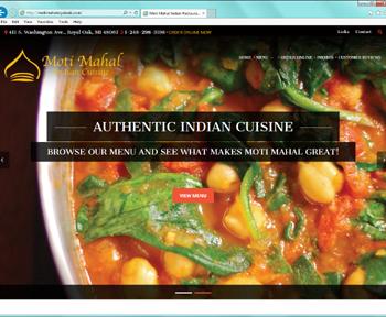 Website Project - Moti Mahal Indian Restaurant