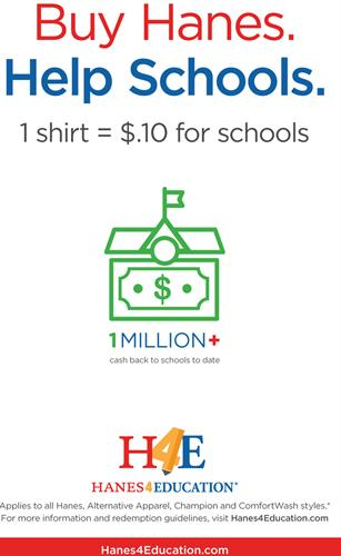 BrandLure can help you donate to your Favorite School when we assist you with Haynes, Champion, Comfort Wash or Alternative Branded apparel items. #giveback  #donatetoschools #brandlure