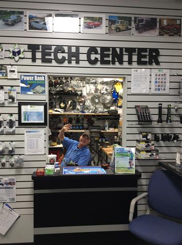 Technician on staff to assist your DC needs, cell phone batteries installed including Apple & Samsung