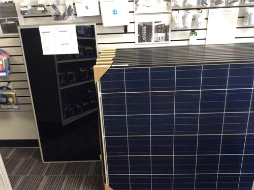 Solar Panels, Charge Controllers, Batteries, cables in stock