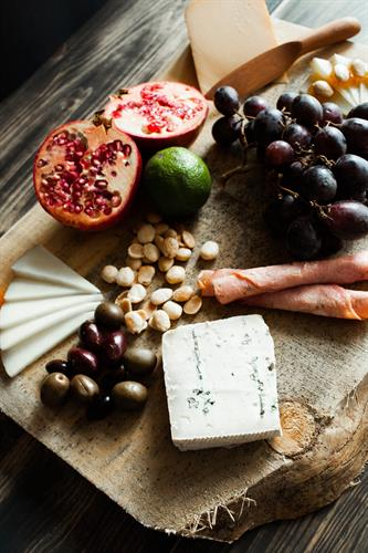 We have a wonderful selection of cheeses to choose from.