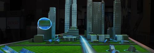 Smart City Display at the 2015 NAIAS