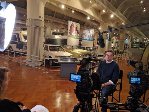 Filming in the Henry Ford Museum