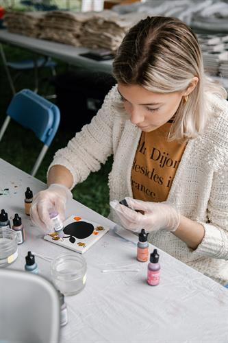Creation Station at the Annual Art & Apples Festival