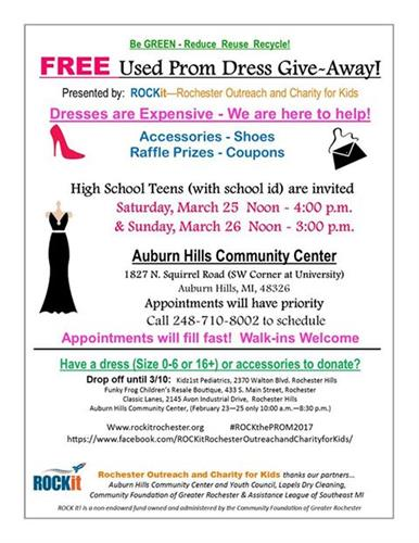 ROCK the Prom 2017 Dress Collection and Event