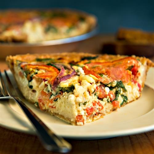 Delicious quiches made fresh daily