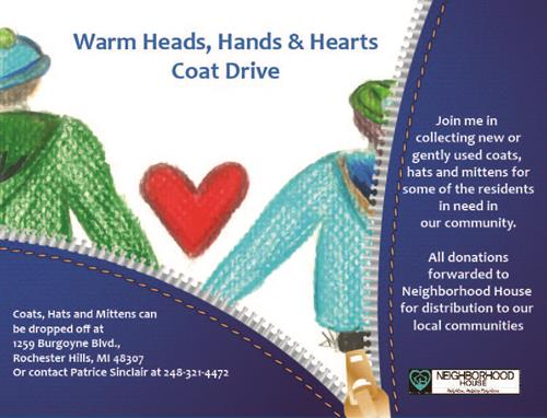 Warming Heads, Hands & Hearts annual fall/winter coat/hat/mitten drive