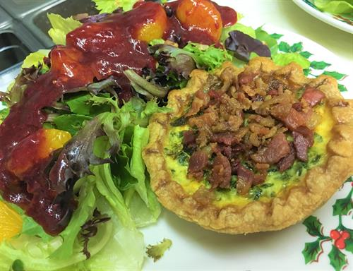 VR Quiche with Bacon
