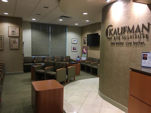Kaufman Eye Institute Wesley Chapel waiting room for eye exams