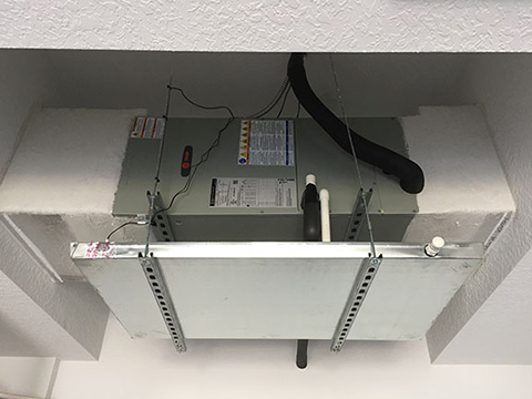 Horizontal Air Handler in a Cove