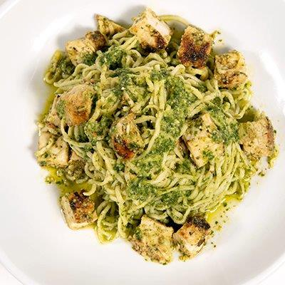 Chicken Pesto- Homemade Pasta and Pesto made from scratch