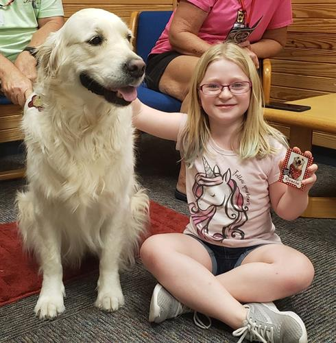 Reading to the Dogs Program at Hudson Library