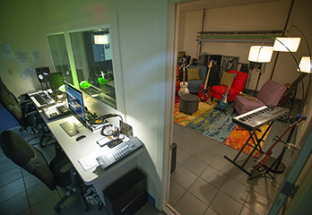 Studio H Recording Studio Makerspace at Hudson Library