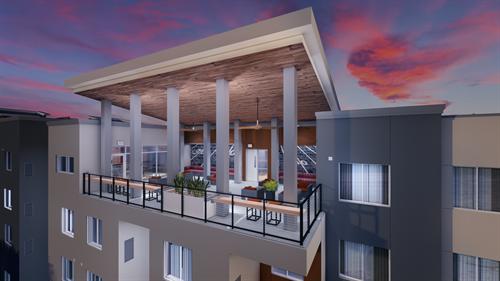 Skybox Rooftop Bar Rendering