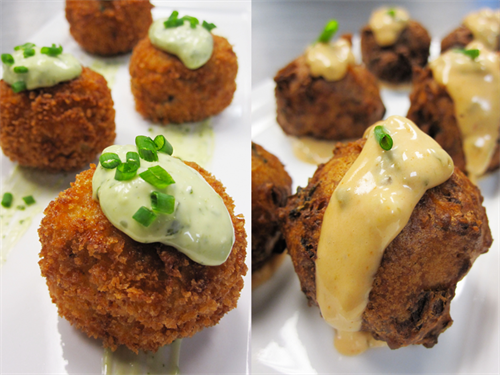 Appetizers - Crab cakes & Conch Fritters